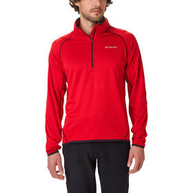 Columbia Mount Powder Fleece Pullover met 1/2 rits Heren, mountain red/black